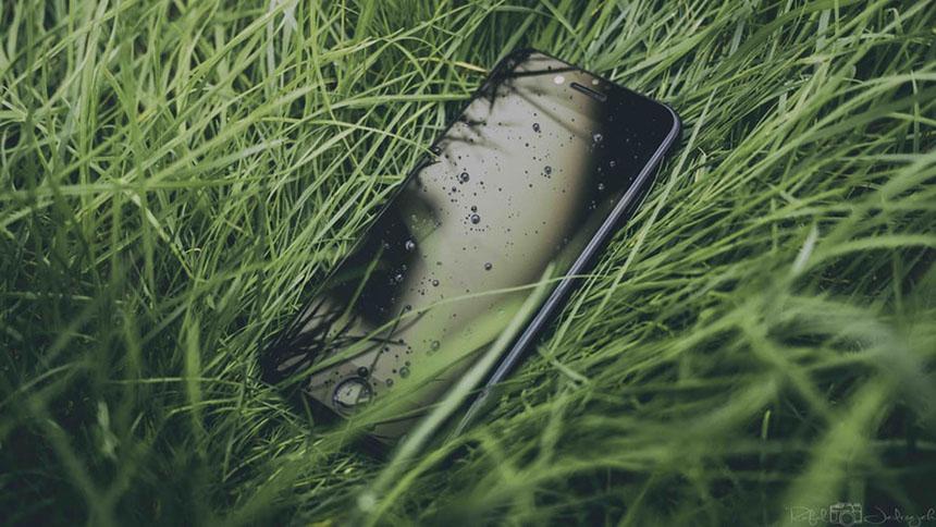 iphone-pe-iarba